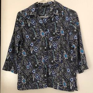 Tops - Paisley button up top